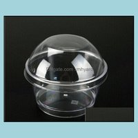Boxes Packing Office School Business & Industrial1000Sets Plastic Round Dome Lid Tiramisu Muffin Cake Cups Clear Home Diy Dessert Baking Too