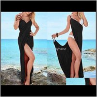 Swimwear Womens Clothing Apparel Drop Delivery 2021 Women Summer Bathing Suits Long Cover Up Sarong Big Plus Size Many Colors Beach Dress1