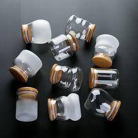 Mini-Glasflaschen mit Deckel klar transparenter Glasbehälter mit Kork-Tee-Süßigkeiten Lebensmittel-Speichercontainer Glasglas mit Deckel