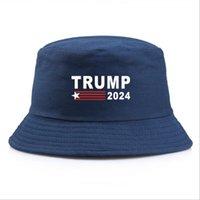 Simple Trump Bucket Sun Cap USA Presidential Election Trump 2024 Fisherman Hat All Seasons Fall Outdoor Solid colors