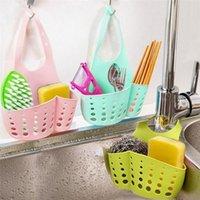 Hanging Baskets Adjustable Sponge Holder Draining Rack Sink Kitchen Bathroom Storage Shelf Drain Basket Tools