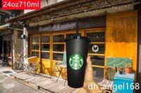 30 Stück 24 Oz 710ml Getränkesaft und Strohmagie Kaffeetasse Custom Starbucks Plastic Becher, Sie können das Logo anpassen