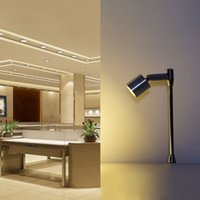 Spotlight led mini pole mounted 110 220v silver 3*1w jewelry lamps, for jewelrys showcase Wine cabinet Shop counter light S10310