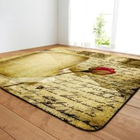 Carpets Retro Style For Living Room Large Area Decor Rose Print Carpet Bedroom Soft Rugs House Restaurant Coffee Table Mat