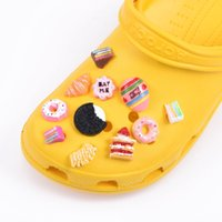 Shoes accessories Top Sellers 1 Pcs Croc Charms Resin Cartoon Candy Decoration Fruit Ice Cream Doughnut Cake Bracelet Accessories Kid's Gift 0716