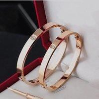 Titanium Steel Love Bracete Серебряная золотая отвертка браслет для влюбленных пар ювелирных изделий с установленным коробкой