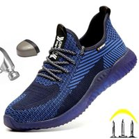 Work Safety Shoes Men Ankle Boots Shoe Man Summer Breathable Lightweight Oil Resistant Sneakers Free 210914