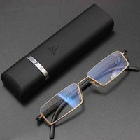 69% Rabatt auf Anti Blue Light Reading Männer Frauen Vintage Half Rim Presbyopische Gläser Männliche Leser Brillen Diopter Gafas de Lectura T3A9