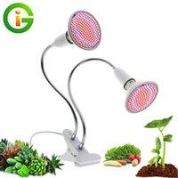 LED Cultive Light Spectrum completo con la lámpara E27 Clip-on Phyto Lámparas 72leds 200leds 290leds para plantas de interior Flores Crecimiento
