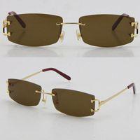 Occhiali da sole montati quadrati all'ingrosso occhiali da sole moda uomo donna occhiali UV400 Lente all'aperto guida con c Goggle Goggle Gold Blocco per grafici in metallo Dimensioni 57-20-140