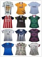2021 2022 المكسيك المرأة كرة القدم جيرسي الوطنية الإناث النادي المكسيكي فتاة امرأة MX Liga Chivas Cruz Azul Monterrey Chicharito Lozano Guardado Vela Football Shirts