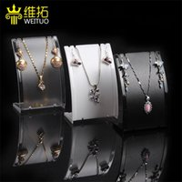 Popular Jewelry Display Stand Black White Clear Mini Size Plastic Neck Bust Pendant Necklace Stand Earring Holder Set Stand Rack 2264 Q2