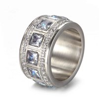 Rings Stainless Steel Jewelry Women's Ring Fashion Simple Cnc Diamond Inlaid Titanium Re0051