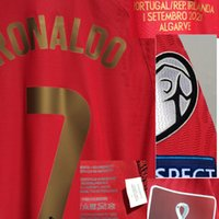 American College Football Wear 2021 Correspondência Worn Playe Problema Ronaldo Maillot Jersey 111 Goals Records MatchDetails Pepe Bernardo Fernandes com camisa de esportes