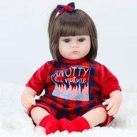 Canción de julio 42cm Bebé Reborn Muñecas Soft Vinyl Toys Para niñas Adorable Reborn Baby Girl Realista Recién Nacido Cumpleaños Presente Muñeca LJ200827