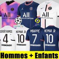 플레이어 버전 PSG Sergio Ramos Verratti MBappe 축구 유니폼 21 22 홈 멀리 아이스크림 Neymar JR 디 Maria Kean 2021 2022 축구 셔츠