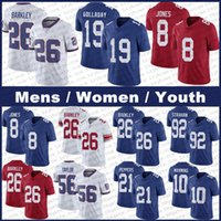 "Män Kvinnor Ungdom Kids 26 Saquon Barkley Kenny Golladay New Eli Manning Jabrill York ""Peppers Daniel Jones Lawrence Giant"" Taylor Kadarius Toney Football Jerseys"