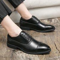 High Quality Newest Fashion Men's Dress Shoes Classic Brownn Pu Leather Premium Brogue Casual Shoes Zapatos De Hombre