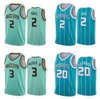 Hommes S-6XL Jersey de basketball 2 Lamelo Ball 3 Rozier 20 Hayward Mint Green Blanc Violet Ville Sans Maillots sans manches