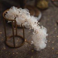 Hair Clips & Barrettes Wedding Accessories Pink Flower Headbands Hairbands Rhinestones Headpiece Headwear Brides Women Girl Tiaras Bridal Je