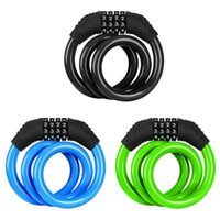 Bike Locks 4-Digit Code MTB Colorful Steel Cable Anti-Theft Security Lock Bicycle Equipment Electric E-Bike Cycling Chain