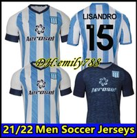 2020 2021 레이싱 클럽 드 Avellaneda 홈 축구 유니폼 20 21 멀리 멀리 # 8 5 Fernandez # 10 Centurion 3 축구 유니폼