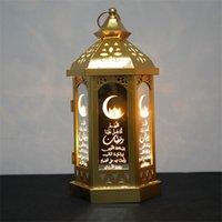 라마단 램프 Eid Mubarak 라마단 파티 LED 교수형 초 롱 14 * 28cm 따뜻한 조명 이슬람교 무슬림 이벤트 파티 장식 526 v2