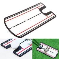 Auxílios de treinamento de golfe colocando a linha de olho de treino de alinhamento de alinhamento de alinhamento de prática reta de espelho 31 x 14.5cm