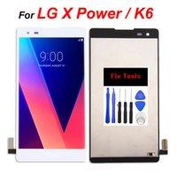 LG X Güç K6 için Çerçeve Panelleri Yok Düzeltme Araçları Ile LCD Ekran Digitizer Dokunmatik Montaj