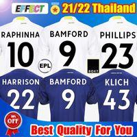 21 22 LEEDS Home Away Soccer Jerseys Versão 2021 2022 FIRPO JAMES HARRISON HERNANDEZ COSTA BAMFORD PHILLIPS RAPHINHA Homens crianças kits camisas de futebol unidos Kit