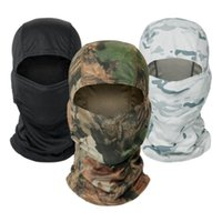 Cycling Caps & Masks Military Balaclava Print Full Face Shield Hunting Fishing Camping Helmet Liner Cap Tactical Camouflage Scarf