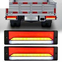 Luzes de emergência 2 pcs 147 LED à prova d'água do sinal de sinal de sinal de luz RV traseira 12v parar de girar sinal de taillight reverso para reboque de caminhão