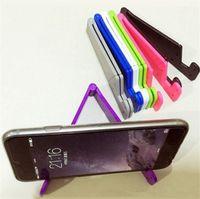 Titulares de telefone celular V em forma de universal dobrável universal montagens portáteis tablet pc pad stand
