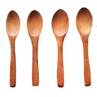 الأطفال خشبي ملعقة صغيرة صديقة للبيئة مقبض طويل الخشب ملاعق العسل سكوب حساء المجارف المطبخ الطعام أدوات المائدة OWB10092