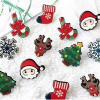 Pins, Brooches Cute Cartoon Christmas Pins Santa Claus Tree Jingle Bells Socks Donuts Candy Enamel Pin Badges Brooch