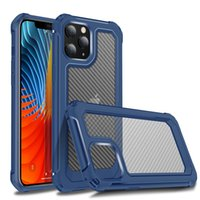 Karbon Fiber Darbeye Dayanıklı Kılıflar iPhone 13 12 11 Pro Max XS XR X 6 7 8 Artı SE2020 Samsung Galaxy S20 Milarat Durumda