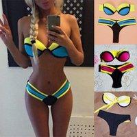 Swimwear Color Cuciture Sexy Swimsuit da donna a righe multicolor