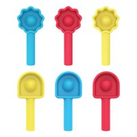 Rainbow Push Bubble Fidget Desktop Educational Toys Pressure Pen Cap Pinching Scensory Finger Anxiety Reliver Fidgets Multi Colors