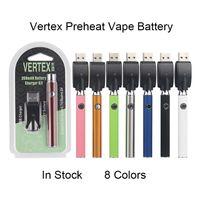 Vertex Lo Ön Önceden VV Pil USB Şarj Kiti 350mAh CO2 Yağı E Sigaralar Vape Kalem Fit 510 Atomizers Kartuşları Paketleme