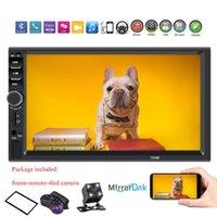 "Car Video 2 Din Radio 7"" HD Autoradio Multimedia Player 2DIN Touch Screen Auto Audio Stereo MP5 Bluetooth USB TF FM Camera 7018b"
