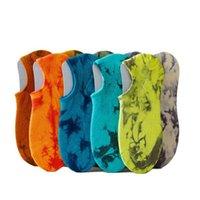 Men's Socks Product Cotton Tie Dye Ankle Colorful Soft No Show Unisex