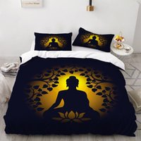 Bedding Sets 2 3 Pieces Buddha Set Religion Duvet Cover Home Room For Bedroom Bed Warm And Comfortable Quilt