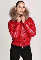 جديد أعلى أزياء المرأة لامعة أسفل سترة الشتاء النساء أسفل معطف ريال الراكون الفراء معطف قابل للانفصال طوق هود ستر المشاهير S-XL