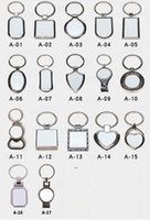 Sublimation Key Rings Blank White Metal Single Side For Sublimating Heat Transfer Keychain Christmas Valentine Pendants Gifts ZZF9165