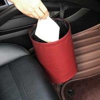 Auto Aufbewahrungsbeleuchtung Interieur Müllbehälter für Abfallorganisator Halter Wasserdichte Mülleimer Mülleimer Mülleimer Falten Zubehör
