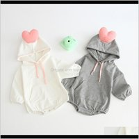 Jumpsuits Jumpsuits&Rompers Baby, Kids & Maternity Drop Delivery 2021 Milancel Clothing Cute Boys Bodysuits Hood Infant Girls Heart Style Bab