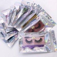 3D Natural Curl Faux Mink Hair Cílios Falsos Dramáticos Wispies Wispies Fluffy Tiras Full Full Full Fake Eye Eye Eye Extension Kit de ferramentas de maquiagem