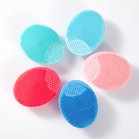 Silicone Beauty Facial Brush Shampoo Brush Wash Baby's Hair Instrument Bath Brush Face Cleaner