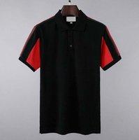 21ss роскошная мода классическая мужская буква полосатая рубашка вышивка хлопок мужская дизайнерская футболка белый красный скейтборд поло рубашка поло m-2xl