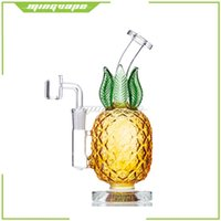 Hookahs Glass Bongs Dabber Rigs no bag Water Bong Smoking Pipe Pineapple Design 7.5 Inch Height 14mm Joint with Quartz Banger Or Slide Bowls